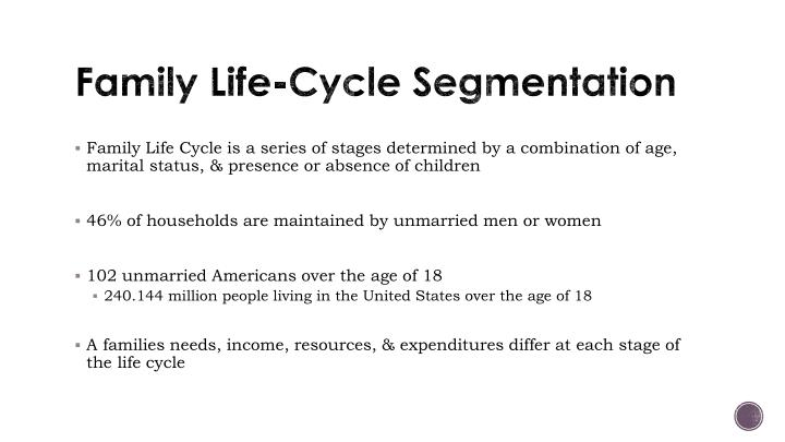 Family Life-Cycle Segmentation