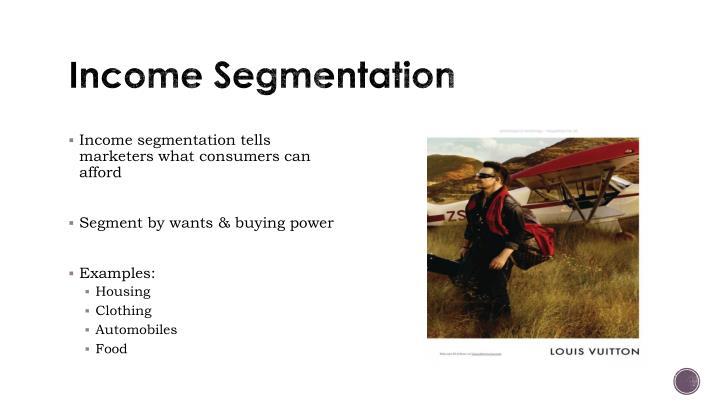 Income Segmentation
