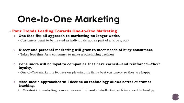 One-to-One Marketing