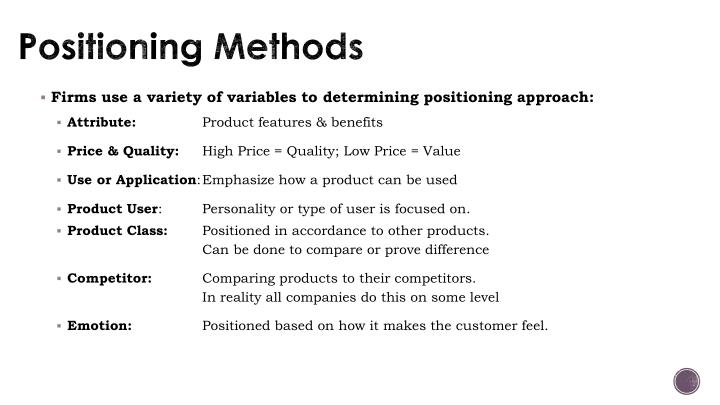 Positioning Methods