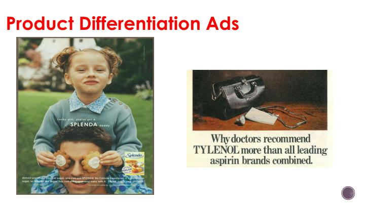 Product Differentiation Ads