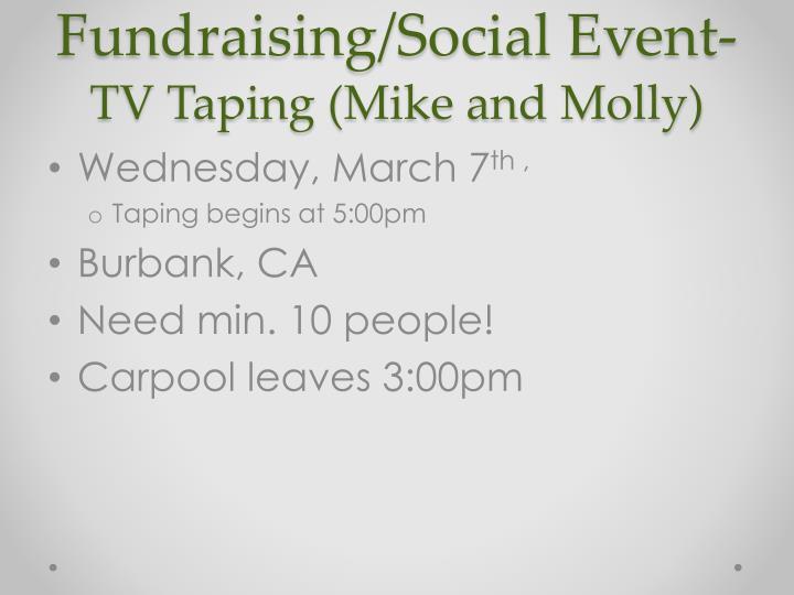 Fundraising/Social Event-