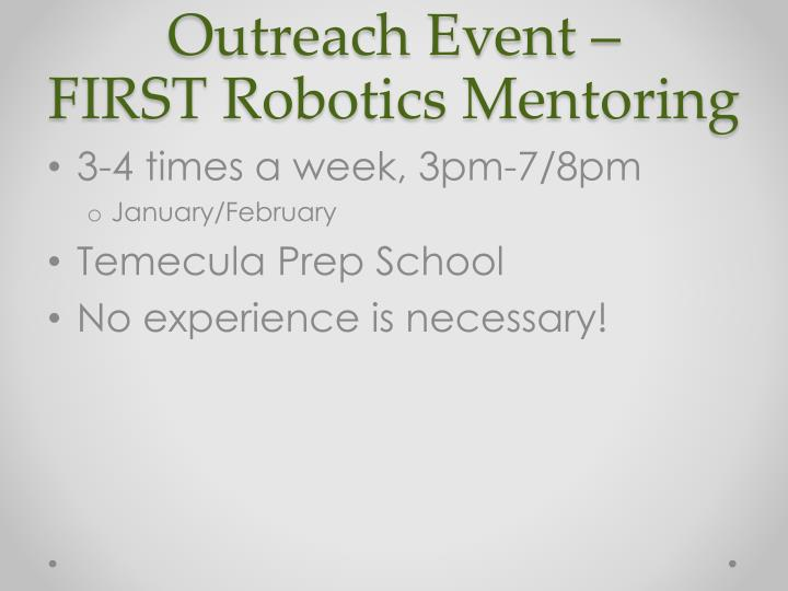 Outreach Event –