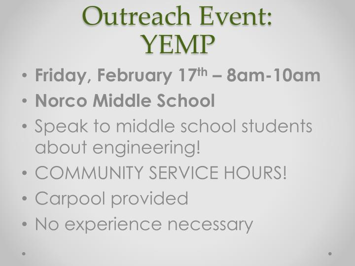 Outreach Event: