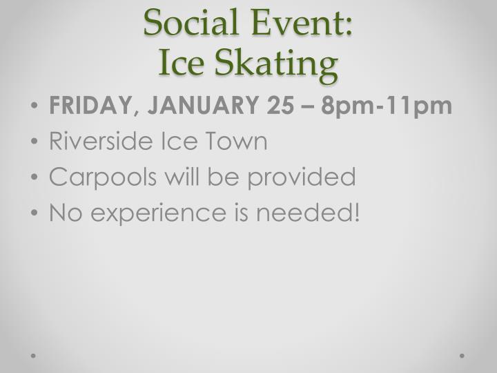 Social Event: