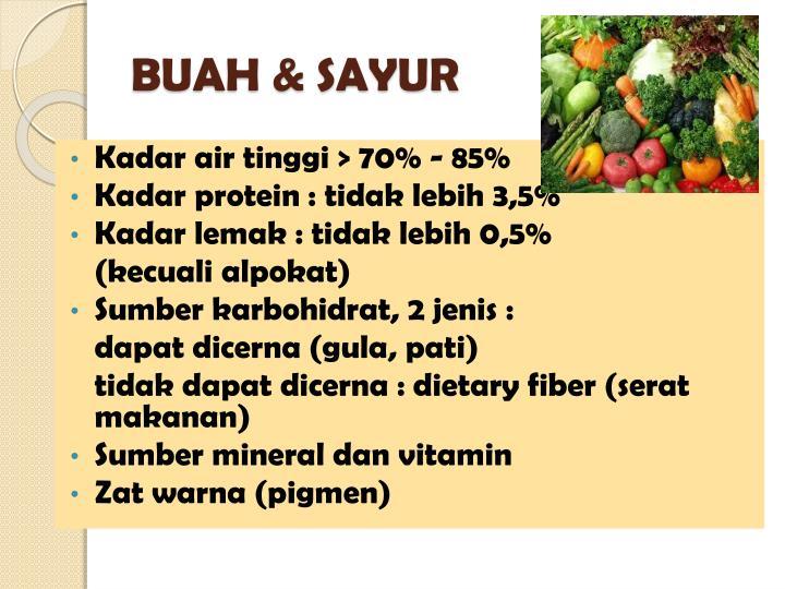 BUAH & SAYUR