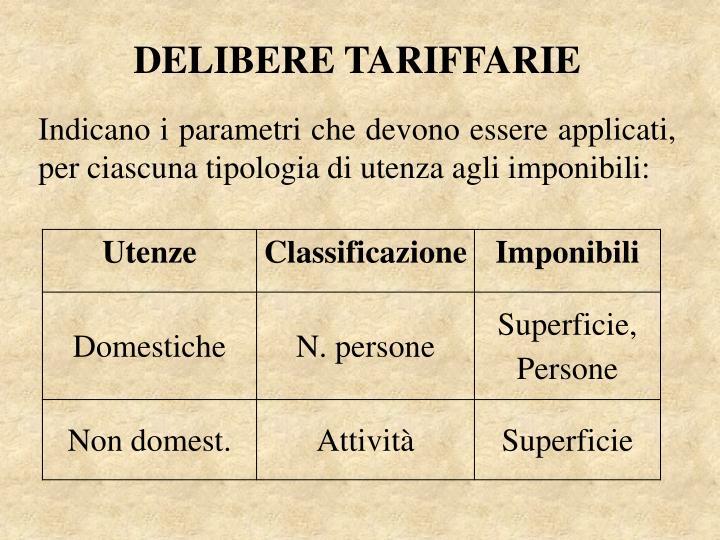 DELIBERE TARIFFARIE