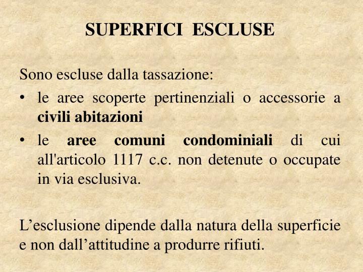 SUPERFICI  ESCLUSE