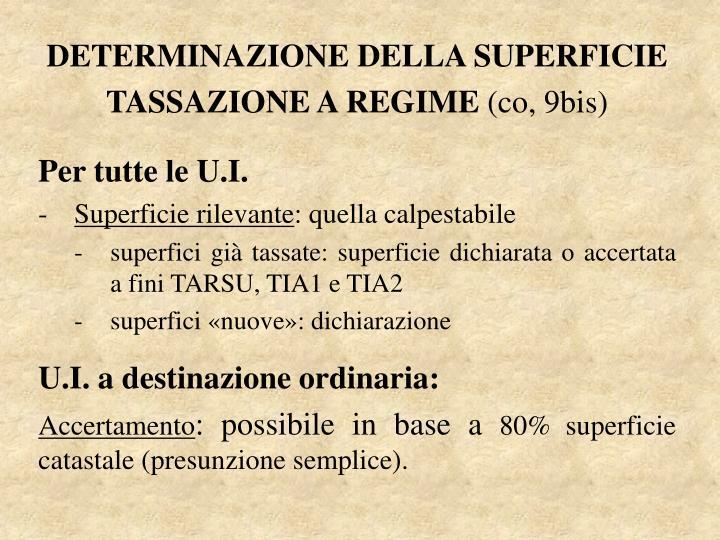 DETERMINAZIONE DELLA SUPERFICIE
