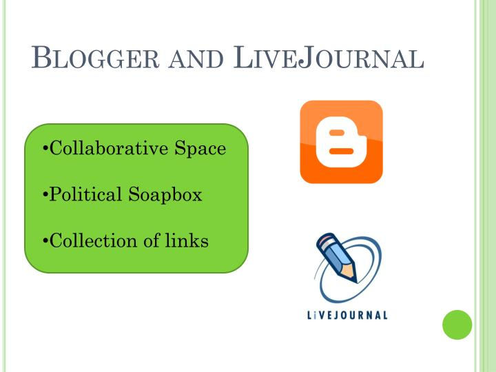 Blogger and LiveJournal