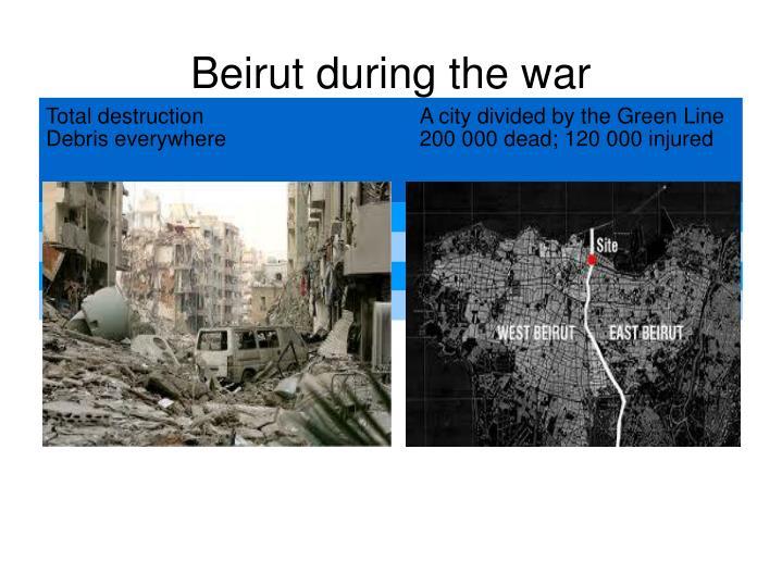 Beirut during the war