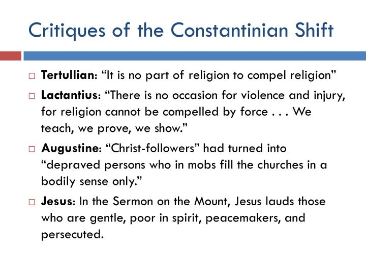 Critiques of the Constantinian Shift