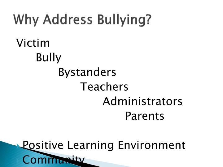 Why Address Bullying?