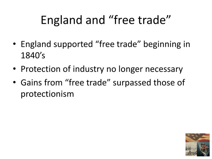 "England and ""free trade"""