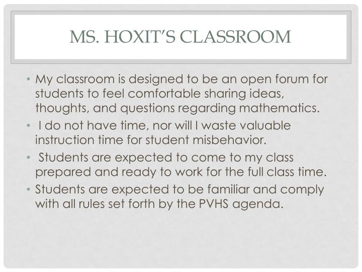 Ms hoxit s classroom