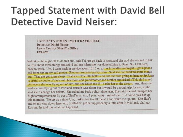 Tapped Statement with David Bell