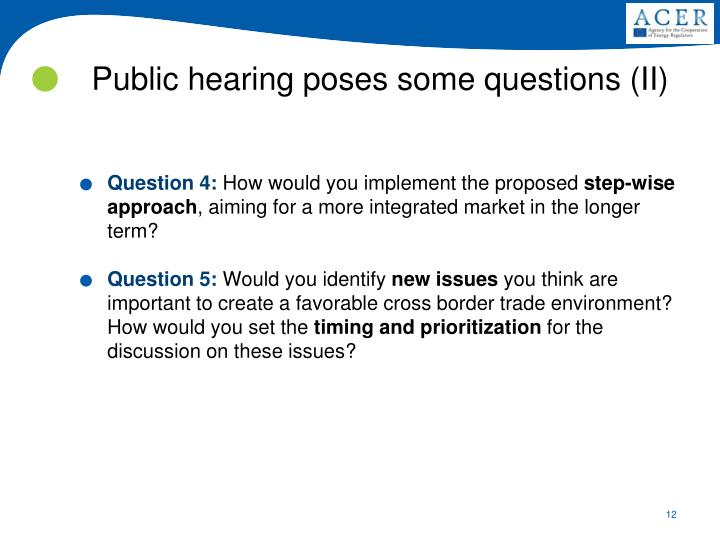 Public hearing poses some questions (II)