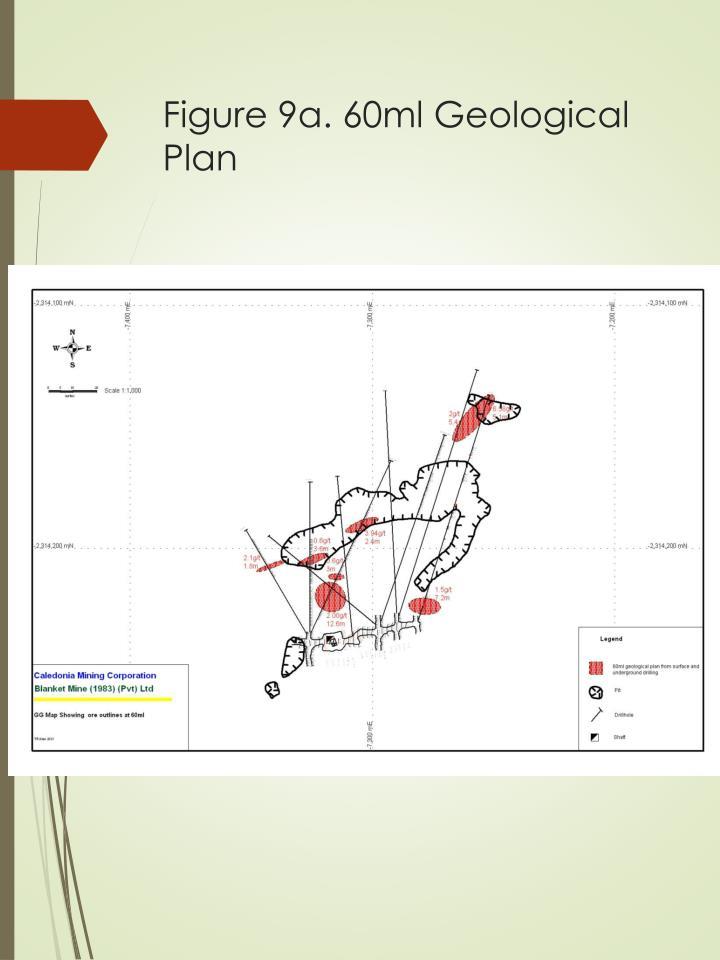 Figure 9a. 60ml Geological Plan