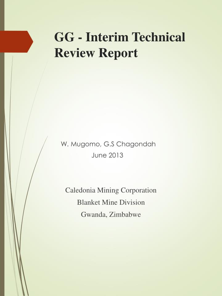 Gg interim technical review report