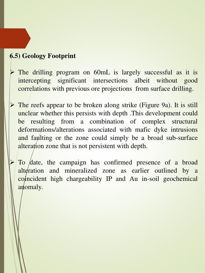 6.5) Geology Footprint