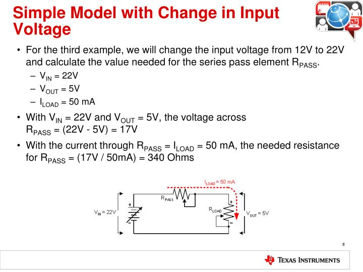 Simple Model with Change in Input Voltage
