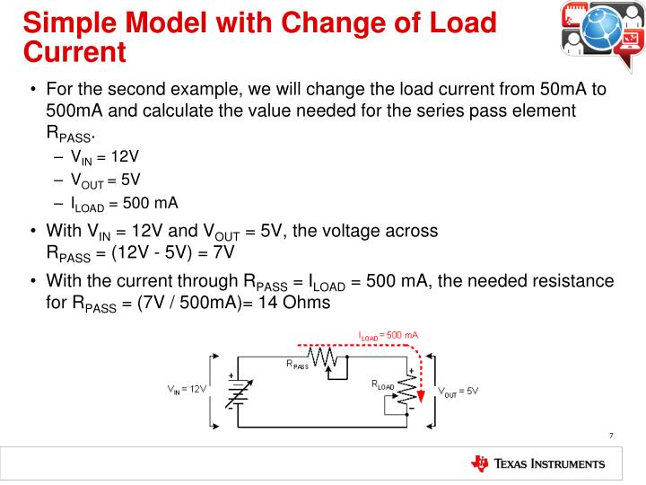 Simple Model with Change of Load Current