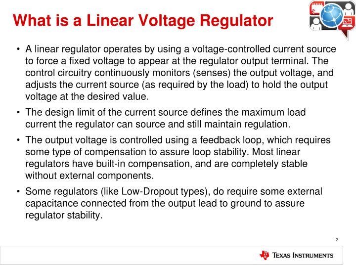 What is a linear voltage regulator