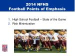 2014 nfhs football points of emphasis