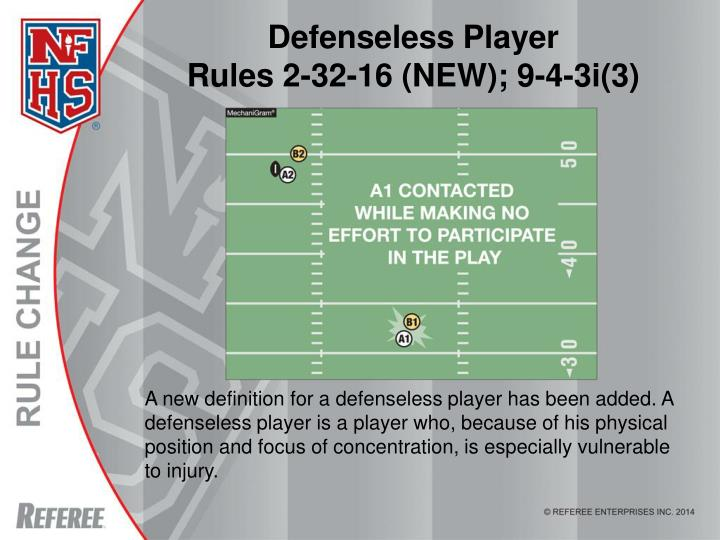 Defenseless Player