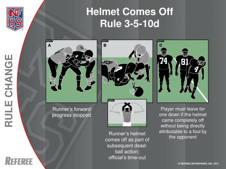 Helmet Comes Off