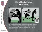 illegal participation rule 9 6 4g