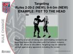 targeting rules 2 20 2 new 9 4 3m new example fist to the head