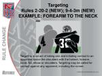 targeting rules 2 20 2 new 9 4 3m new example forearm to the neck