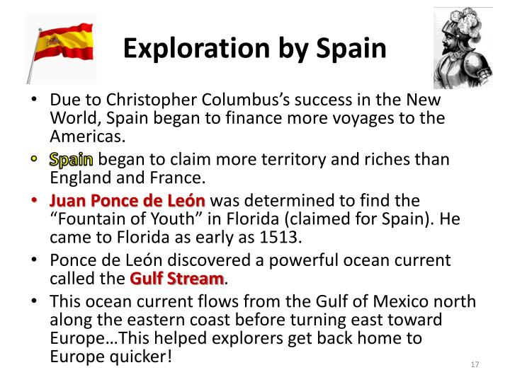 Exploration by Spain