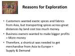 reasons for exploration2