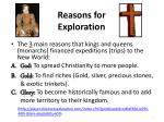 reasons for exploration3