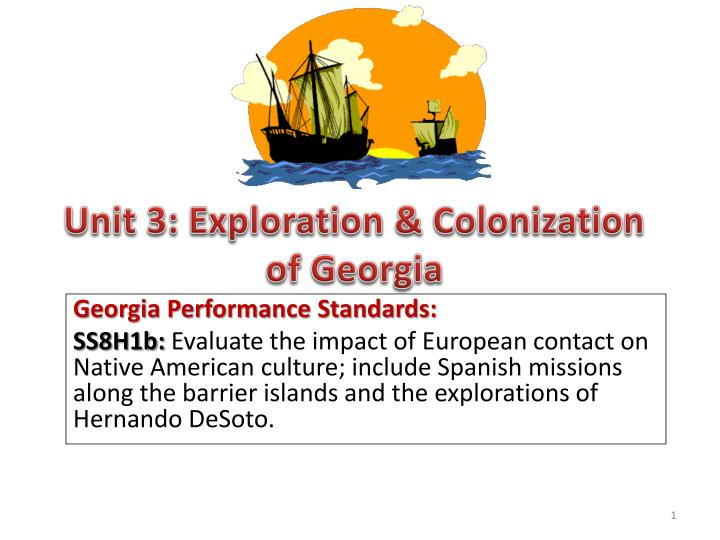 Unit 3: Exploration & Colonization