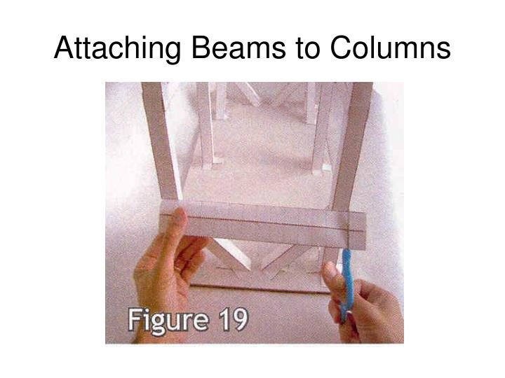 Attaching Beams to Columns