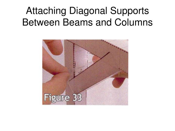 Attaching Diagonal Supports Between Beams and Columns