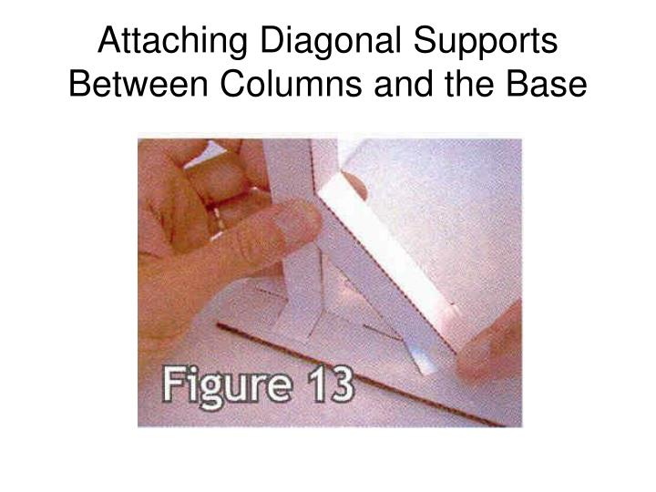 Attaching Diagonal Supports Between Columns and the Base