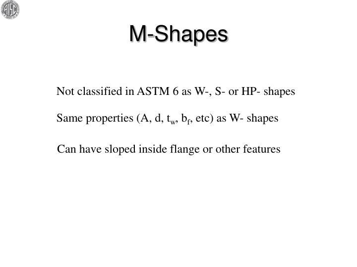 M-Shapes