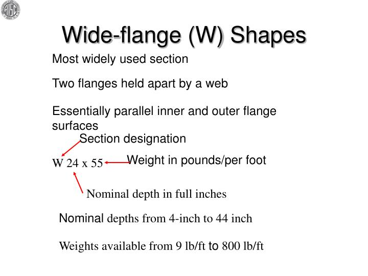 Wide flange w shapes