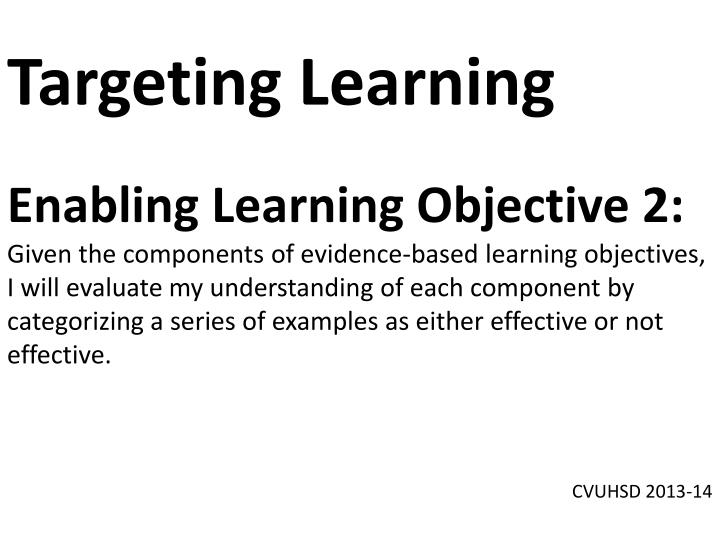 Targeting Learning