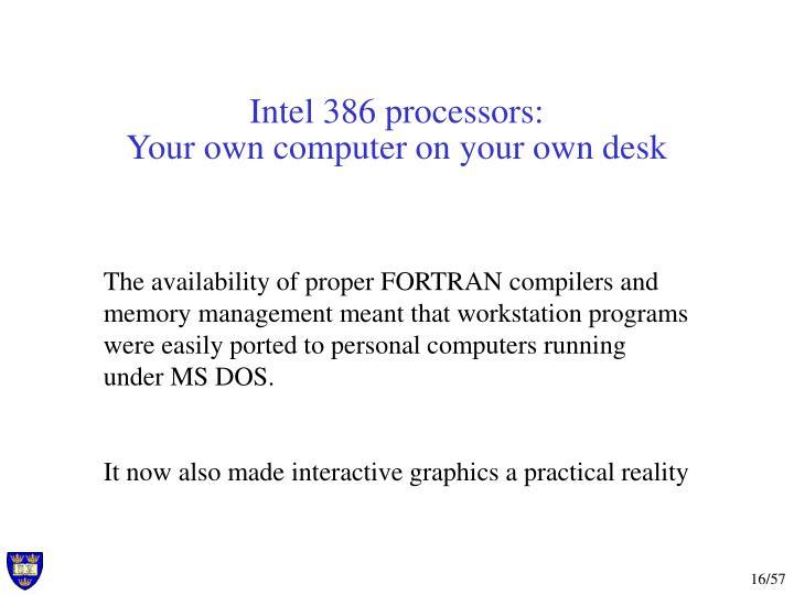 Intel 386 processors: