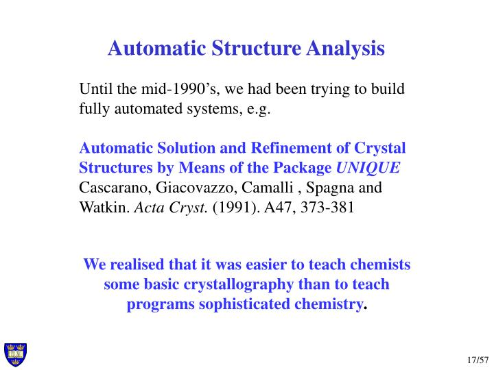 Automatic Structure Analysis