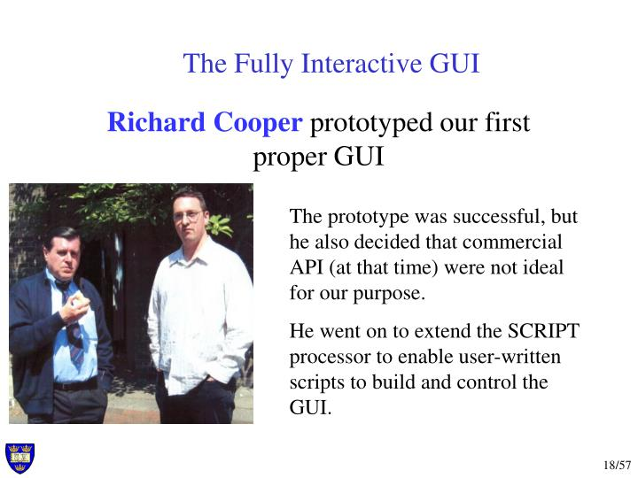The Fully Interactive GUI