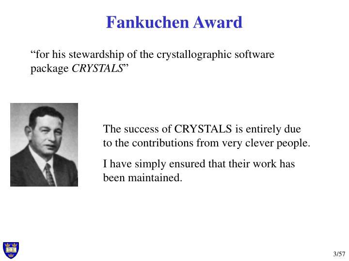 Fankuchen Award