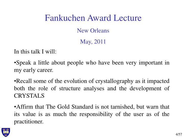 Fankuchen Award Lecture