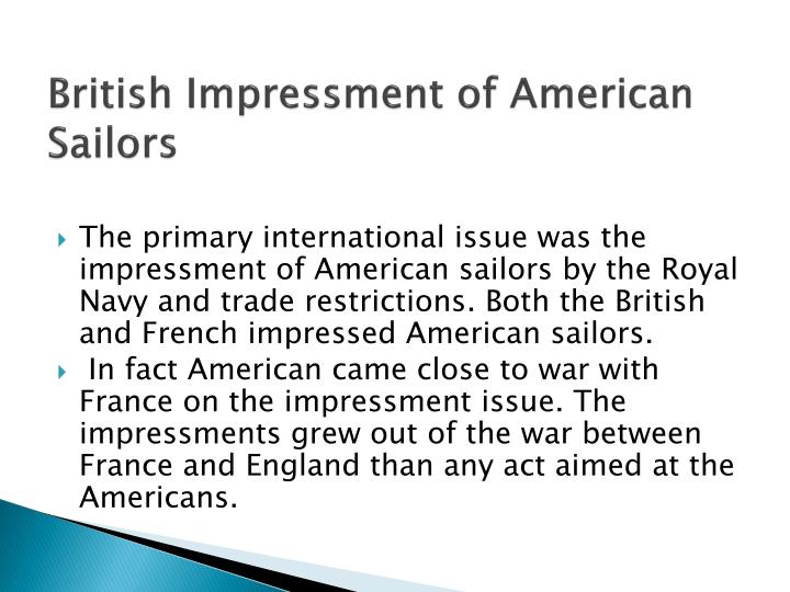 British impressment of american sailors