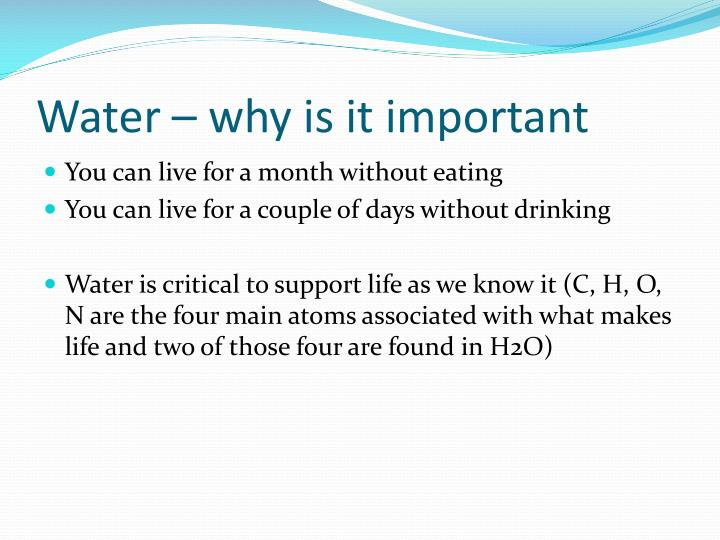 Water – why is it important